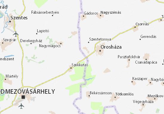 Kakasszék Map