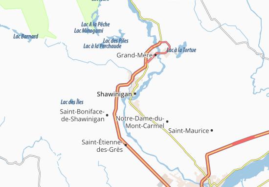 Kaart Plattegrond Shawinigan