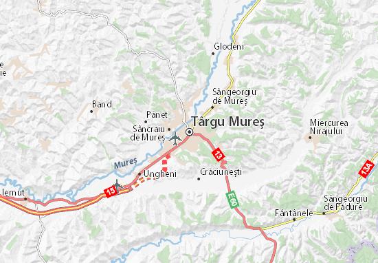 Kaart Plattegrond Târgu Mureş