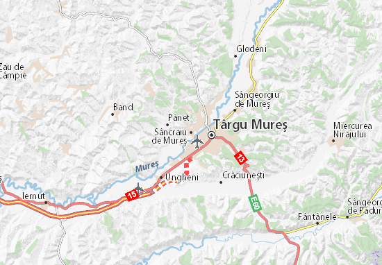 Sâncraiu de Mureş Map