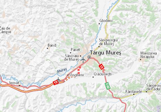 Mapa Plano Sâncraiu de Mureş