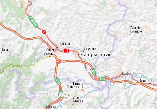 Kaart Plattegrond Câmpia Turzii