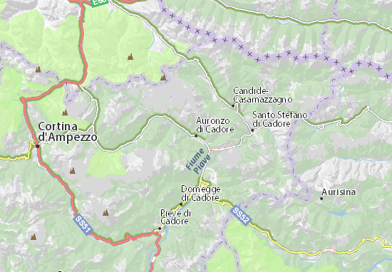 Mapa Plano Auronzo di Cadore