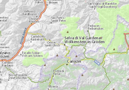 Karte Stadtplan Wölkenstein in Gröden