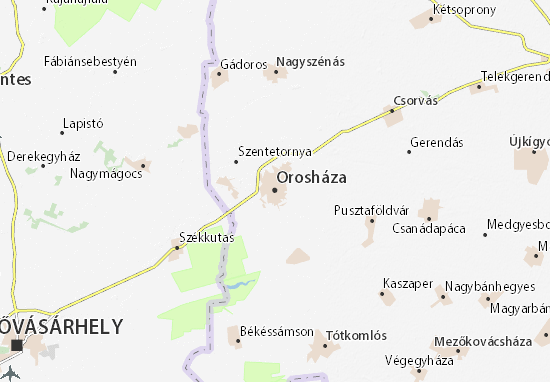 Orosháza Map