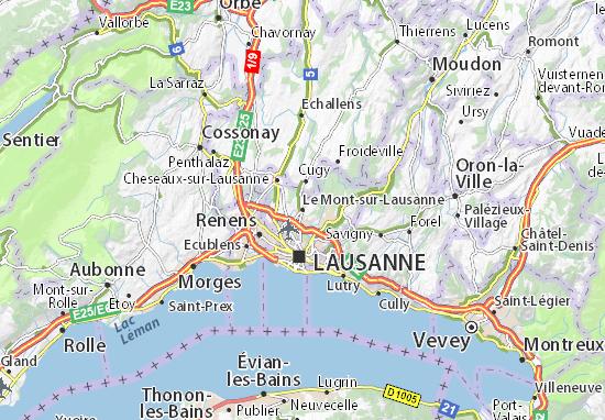 Carte-Plan Le Mont-sur-Lausanne