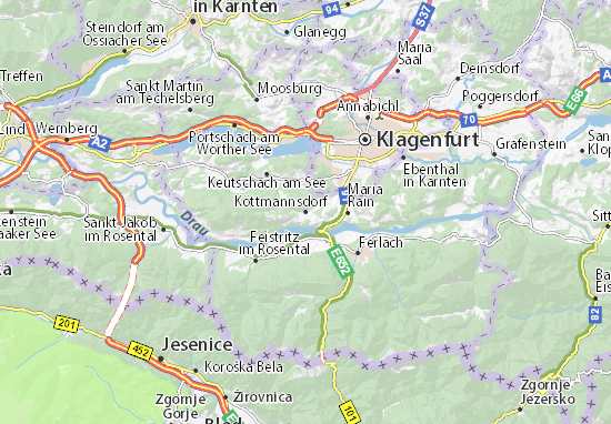 Karte Stadtplan Köttmannsdorf