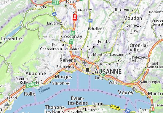 Carte-Plan Romanel-sur-Lausanne