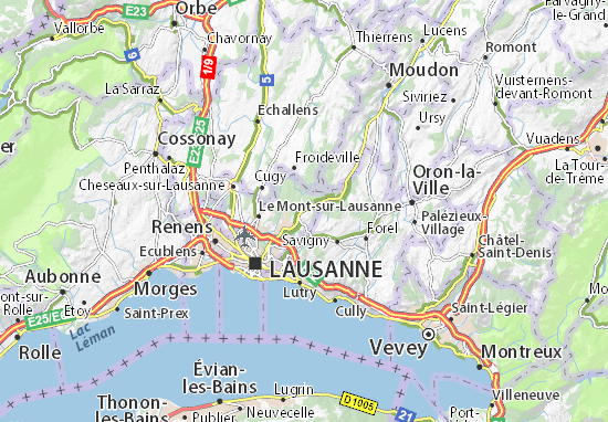 Carte-Plan Chalet-à-Gobet