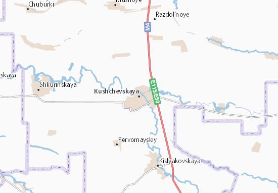 Kushchevskaya Map