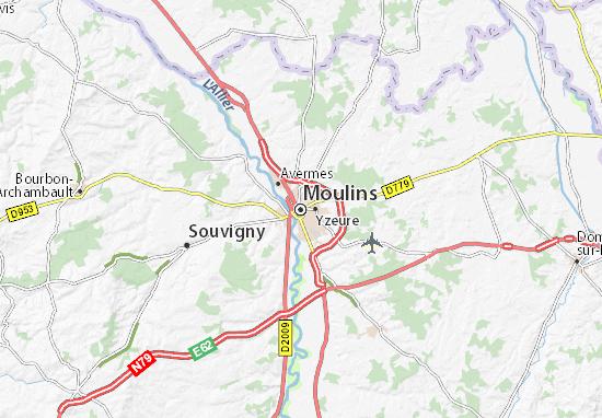 Kaart Plattegrond Moulins