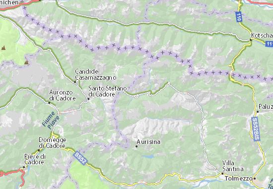 Cartina Veneto Michelin.Michelin Sappada Map Viamichelin
