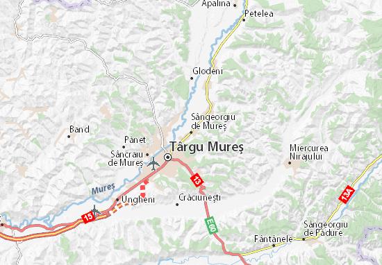 Sângeorgiu de Mureş Map