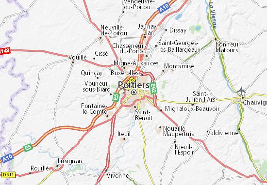 Poitiers Carte De France : poitiers map detailed maps for the city of poitiers ~ Dailycaller-alerts.com Idées de Décoration