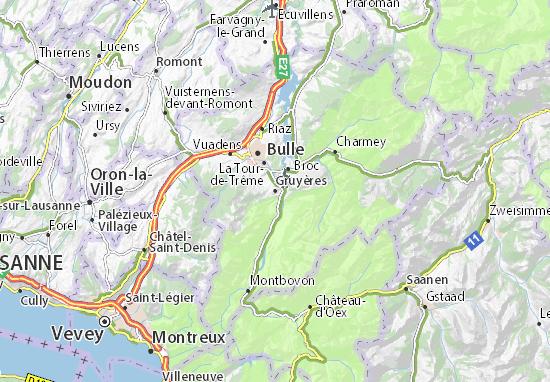 Carte-Plan Gruyères