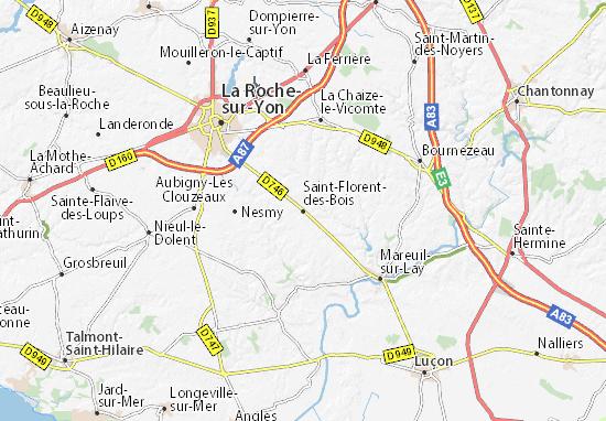 Mapa Plano Saint-Florent-des-Bois