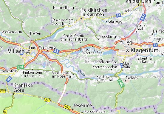Schiefling am Wörthersee Map