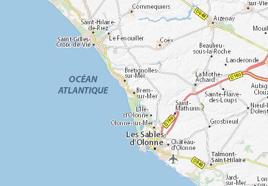 Mapa Plano Brem-sur-Mer