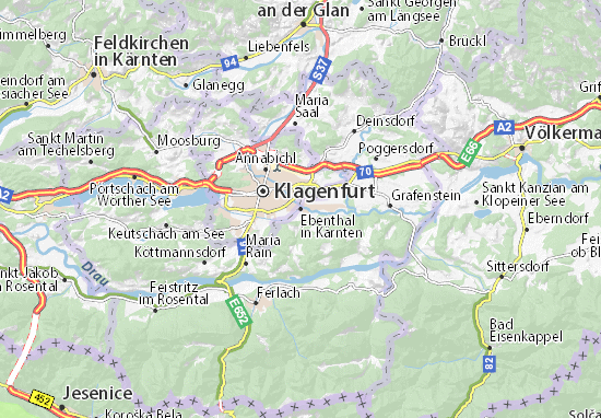 Ebenthal in Kärnten Map