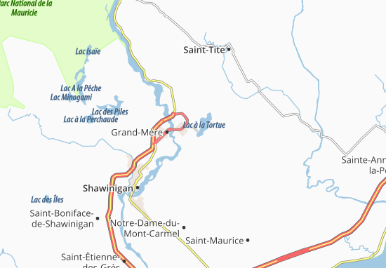 Lac-à-la-Tortue Map