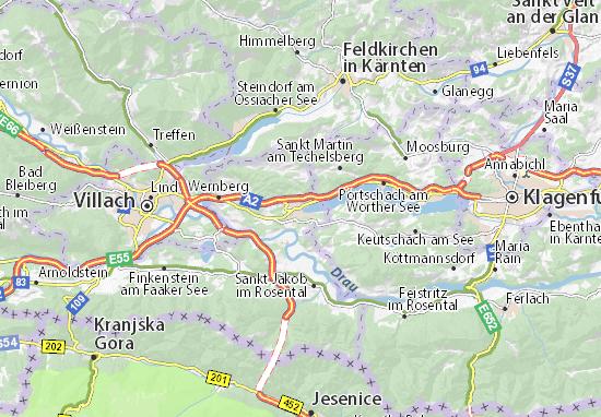 Mappe-Piantine Velden am Wörther See