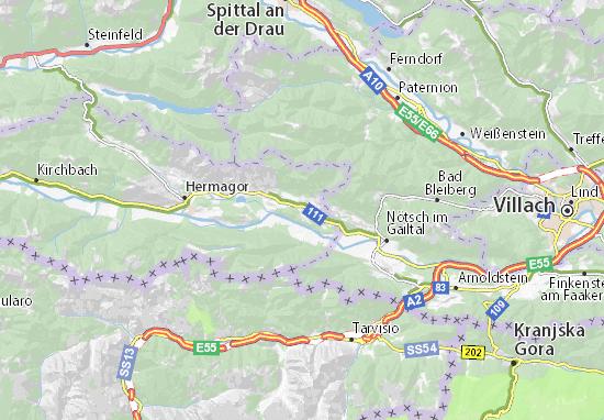 Karte Stadtplan Sankt Stefan an der Gail