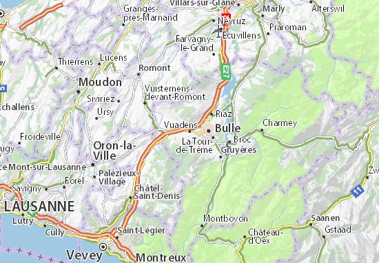 Karte Stadtplan Vuadens