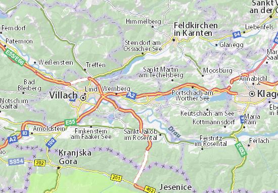 Kaart Plattegrond Weinzierl