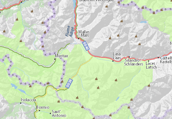Mappe-Piantine Prad am Stilfser Joch