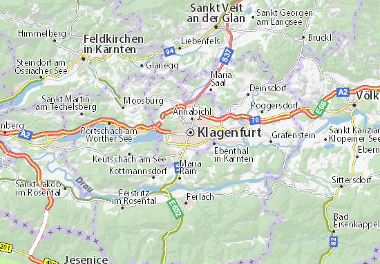 Klagenfurt Map