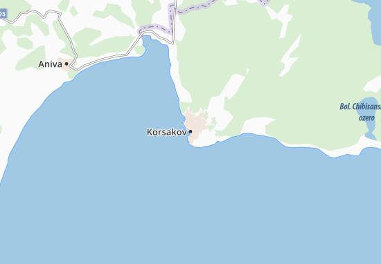 Kaart Plattegrond Korsakov