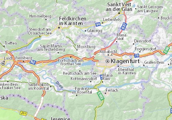 Krumpendorf am Wörthersee Map