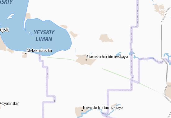 Mappe-Piantine Staroshcherbinovskaya