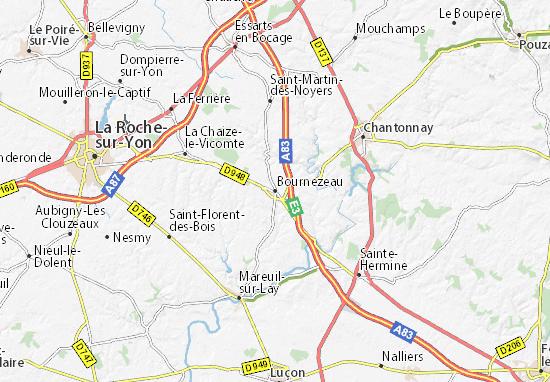 Carte-Plan Bournezeau