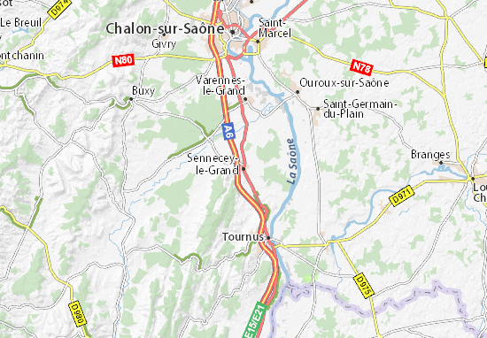 Mapas-Planos Sennecey-le-Grand