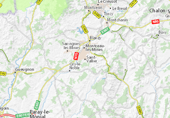 Carte-Plan Saint-Vallier