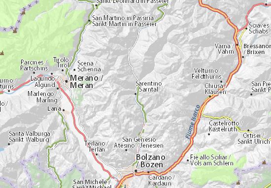 Kaart Plattegrond Sarntal