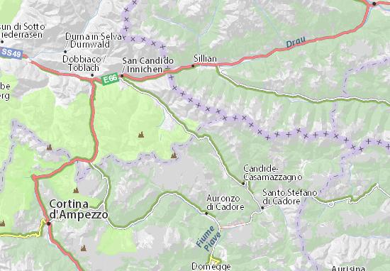 Mappe-Piantine Passo di Monte Croce di Comelico