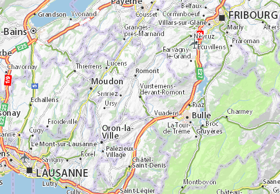 Carte-Plan Vuisternens-devant-Romont
