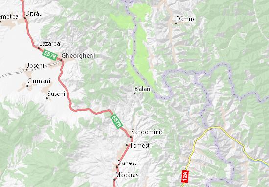 Kaart Plattegrond Bălan
