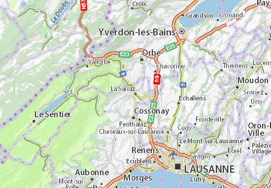 Karte Stadtplan La Sarraz