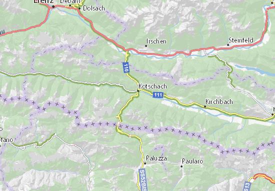 Mapa Plano Mauthen