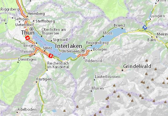 Karte Stadtplan Wilderswil