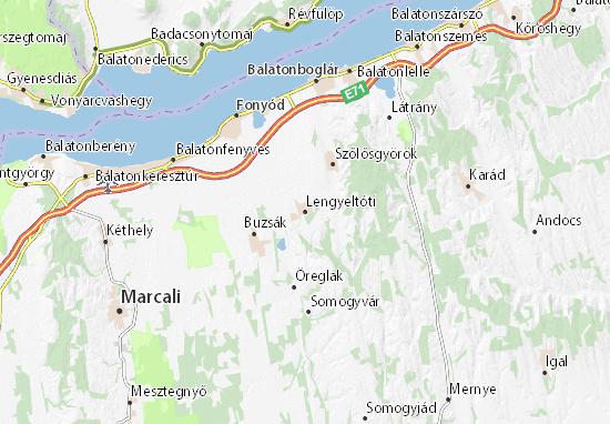 Lengyeltóti Map