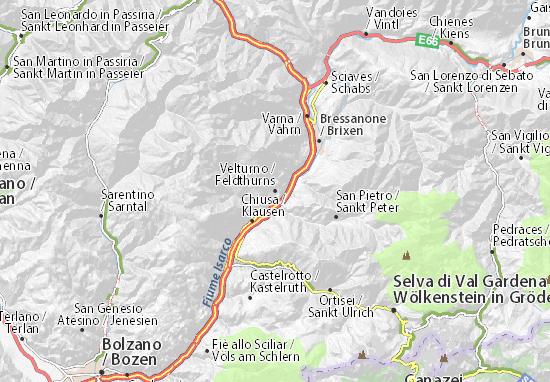Mapas-Planos Feldthurns
