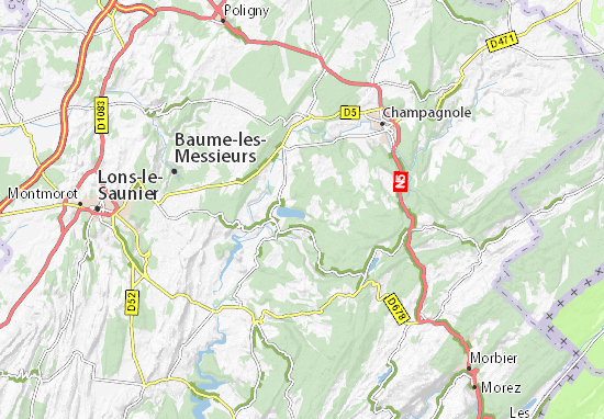 Carte Michelin Lac De Chalain Plan Lac De Chalain Viamichelin