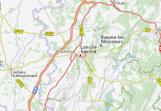Lons-le-Saunier Map