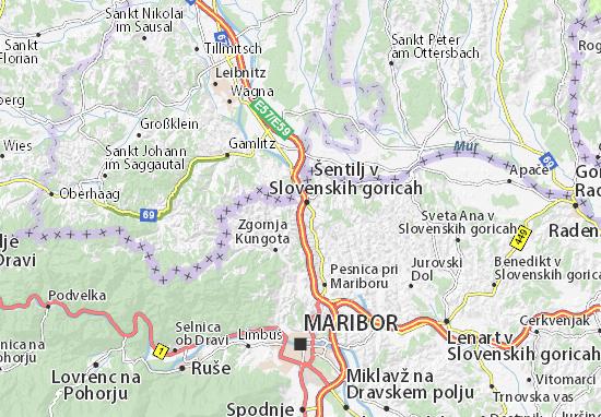 Karte Stadtplan Sentilj