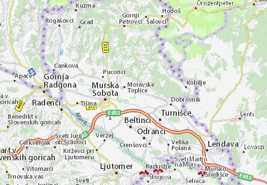 Carte-Plan Moravske Toplice