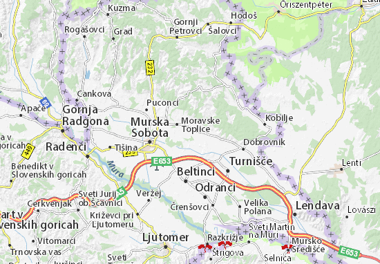 Mapas-Planos Moravske Toplice